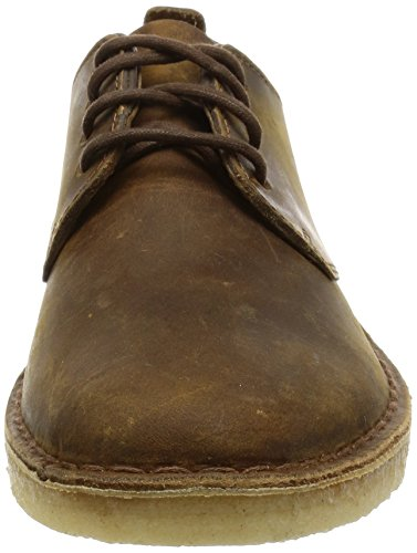 Clarks Originals Desert London Herren Derby Schnürhalbschuhe, Braun (Beeswax Leather), 46 EU (11 Herren UK)