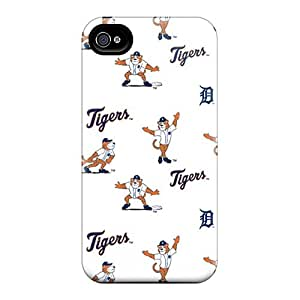 Durable Defender Cases For Iphone 4/4s Covers(detroit Tigers)