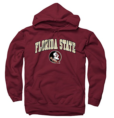 - Campus Colors Florida State Seminoles Arch & Logo Gameday Hooded Sweatshirt - Garnet, XX-Large