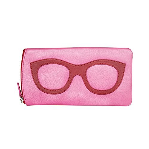 ili New York 6462 Leather Eyeglass Case (Hot Pink/Red) by ili New York