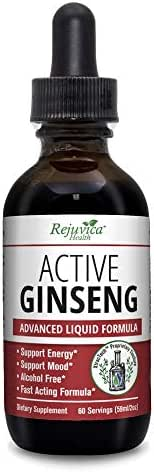 Active Ginseng - Real Korean Red Panax Ginseng with Natural Ginsenosides - All-Natural Advanced Liquid Solution for 2X Absorption - Supports Healthy Energy, Vitality, Mood and More