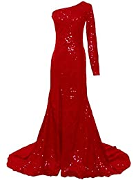Sequins Mermaid Evening Gowns Long Sleeves/Sleeveless For Women Wedding Party E122