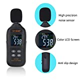 Sound Level Meter Digital Audio Decibel Meter Noise Level Meter Sound Monitor dB Meter Noise Tester Measuring 35 to 135 dBA MAX Data Hold with Color LCD Display