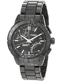 Timex Men's T2N500 Intelligent Quartz SL Series Fly-Back Chronograph Black Ionic Plating Stainless Steel Bracelet Watch
