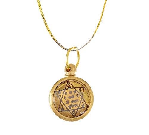 Handmade Designer Shree Kuber Yantra Golden Ashtadhatu Alloy Pendant
