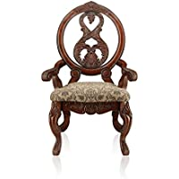 Furniture of America Victoire French Style Arm Chair, Antique Cherry, Set of 2