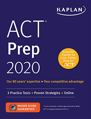 Book : ACT Prep 2020 3 Practice Tests + Proven Strategies +.