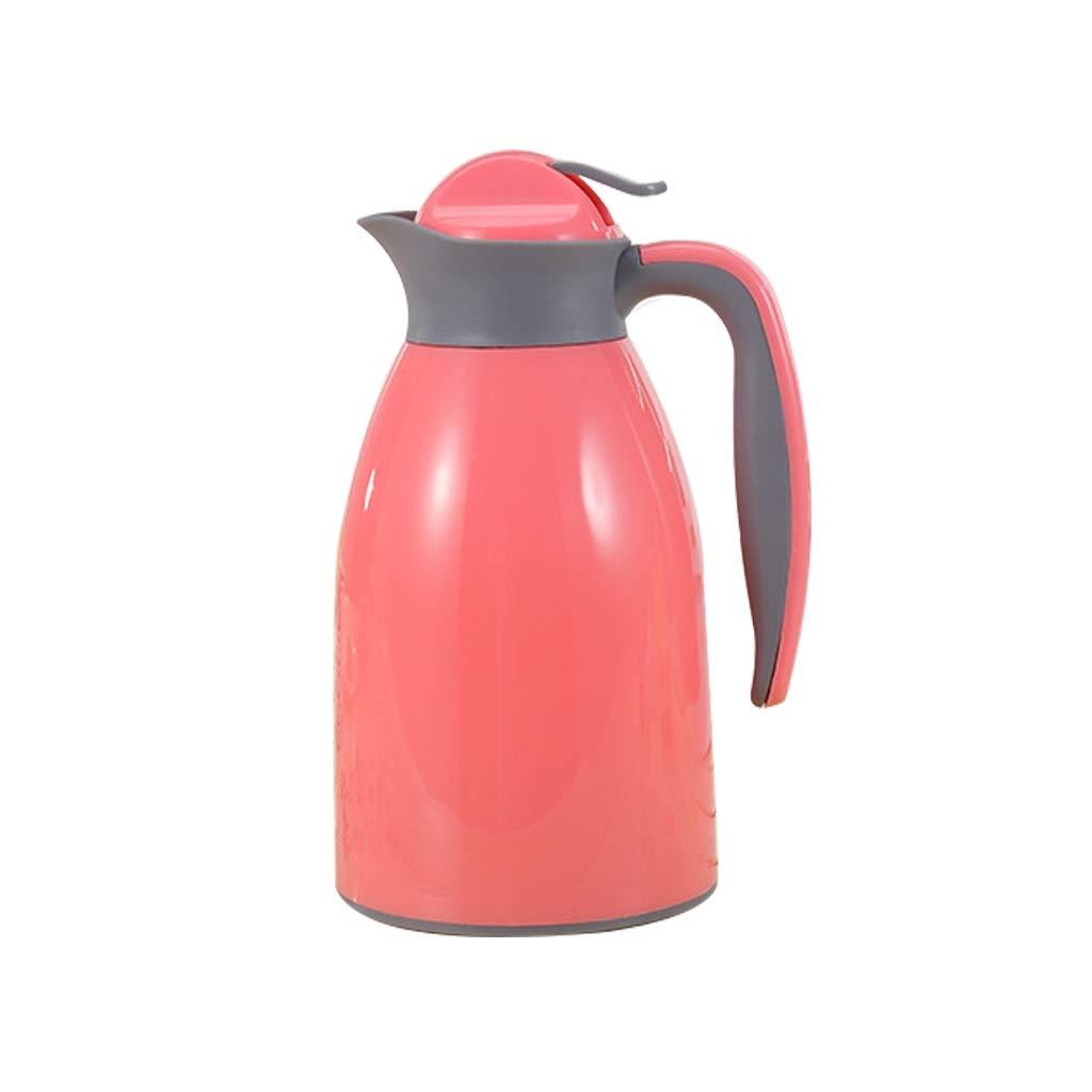 NJYT Isolante Pentola,Doppia Parete Sottovuoto Isolamento Grande capacità Ermetica Caraffa Termica per Succo caffè Latte tè Bevande (colore   Red, Dimensioni   1L)