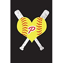 P Monogram Initial Softball Journal: Letter P Softball Journal, 6x9 lined blank notebook, 150 pages, journal to write in for journaling, notes, or inspirational quotes, paperback composition book
