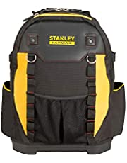 Stanley Gereedschapsrugzak (36 x 46 x 27 cm, met vakken voor gereedschap, accessoires, laptop, netvak, robuust Denier nylon, ergonomische rug- en schouderkussen) 1-95-611, zwart