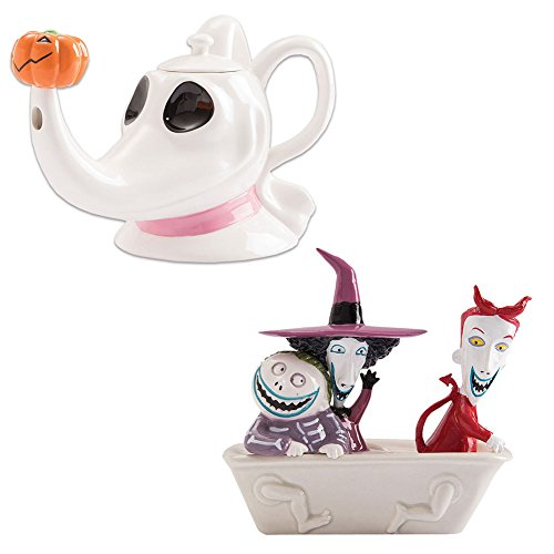 Lyon-Vandor Nightmare Before Christmas Bundle Set Zero Teapot and Lock Shock Barrel Salt Pepper Shakers