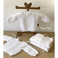 Chambrita blanca de bebé/regalo recién nacido/ropita de bebé/babyshower/bautizo/niño/niña