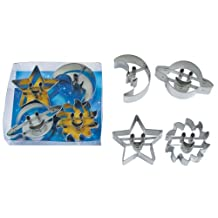 R&M International 1803 Astro Cookie Cutter, Planets and Stars, Set of 4