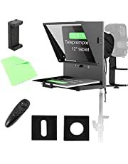 Spolehli Teleprompter TMP Adjustable ipad/Tablet/Smartphone Teleprompter for Phone&DSLR with Big Screen for Video Shooting Interview Recording Live Stream Broadcast (Teleprompter)
