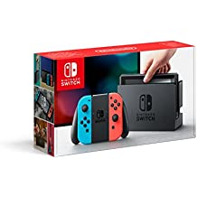 Nintendo Switch with Neon Red Joy-Con + Neon Blue Joy-Con Controllers - UK Version