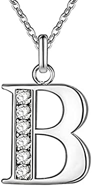 Necklace for Woman 26 English Letters Personalized Name Chain Pendant Fashion 925 Sterling Silver Jewelry Neck