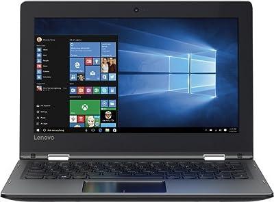 "Lenovo - Flex 4 1130 2-in-1 80U30001US 11.6"" Touch-Screen Laptop - Intel Celeron - 2GB Memory - 64GB eMMC Flash Memory - Black"