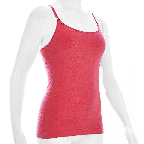 Ems Womens Seamless Venture Cami Honeysuckle Pink Red Xs