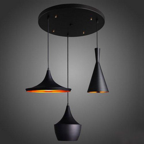 LightInTheBox Modern/Contemporary Mini Style 60W Streamlined Pendant Light in Black Chandelier for Dining Room, Bedroom, Living Room