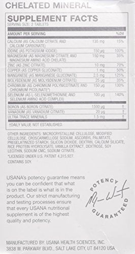 Amazon.com: USANA Essentials Vitamins (New) - Pack of Mega Antioxidant & Chelated Mineral, 224 tablets: Health & Personal Care