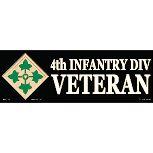 4th Infantry Division Proudly Served Bumper Sticker - Served Proudly Sticker Bumper Division