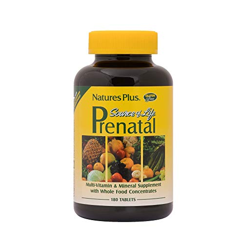 NaturesPlus Source of Life Prenatal - 800 mcg Folate, 180 Vegetarian Tablets - All Natural Prenatal Vitamin & Minerals with Iron & Calcium - Optimal Health & Energy - Gluten-Free - 90 Servings (Whats The Best Prenatal Vitamin)