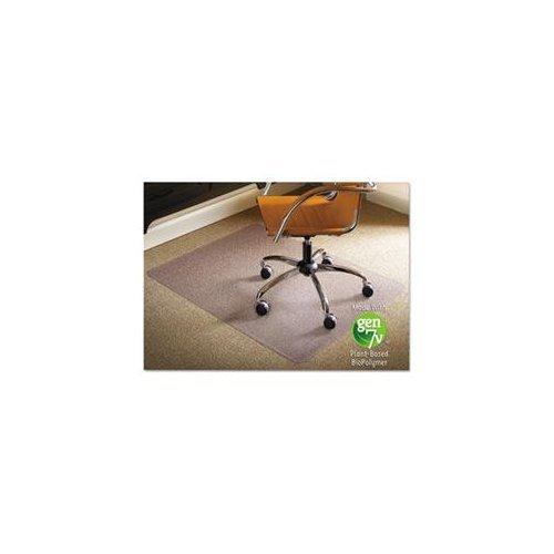 ES Robbins Natural Origin Rectangle Vinyl Chair Mat for Carpet, 46 by 60-Inch, Clear