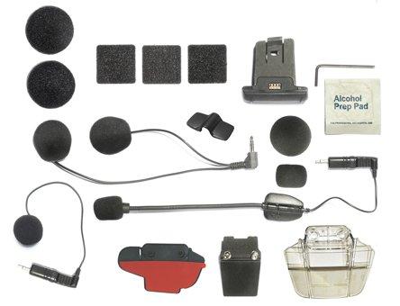 Cardo Audio Kit Q1//Q3 Support Scala Rider /écouteurs st/ér/éo et double micro