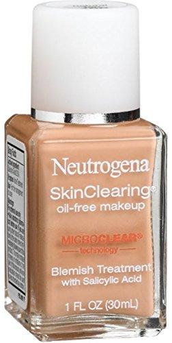 Neutrogena Skinclearing Makeup, 100 Natural Tan, 1 Fl. Oz. (Pack of 2)