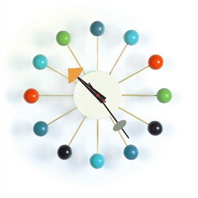 Vitra: George Nelson Ball Clock, Multicolored, One Size