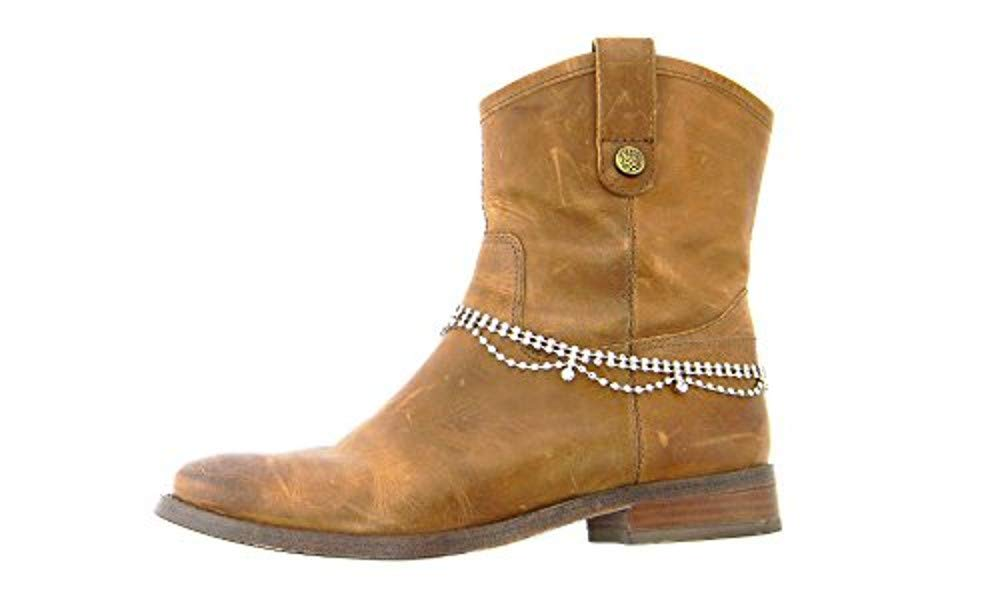 Roger Enterprises Boot Chain Jewelry Ankle Multiple Rows Strands Rhinestones in Designer Fashion