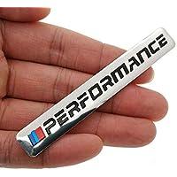 SOLDOUT™ Car Decal Logo Badge Auto Accessories Sticker M Power Performance For BMW M 1 3 4 5 6 7E Z X M3 M5 M6 Mline Emblem (1 Piece, Silver)