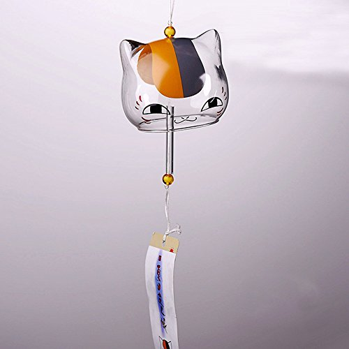 Romantic Creative Design Wall Hanging Wind Chimes Handmade Glass Japanese-style Pendant For Outdoor Garden Home Shop Mall (Cut Cat Wind Chimes)