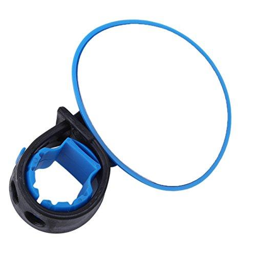 Rurah Universal Cycling Bike Bicycle MTB Handlebar Rearview Mirror 360 Degree Rotate Bicycle Accessories,blue