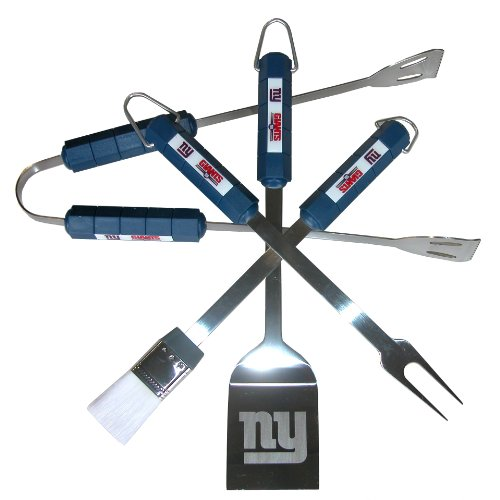NFL New York Giants 4-Piece Barbecue (New York Giants Grilling)