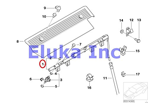 (BMW Genuine VALVES/PIPES OF FUEL INJECTION SYSTEM Injection Tube 525i 530i 320i 325Ci 325i 325xi 330Ci 330i 330xi X5 3.0i 525i 530i X3 2.5i X3 3.0i Z4 2.5i Z4 3.0i Z3 2.5i Z3 3.0i)