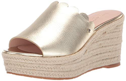 Kate Spade New York Women's Tabby Sandal, Pale Gold, 6 M US