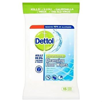 Limpiador Antibacterial Dettol toallitas de piso por 15 unidades de 8: Amazon.es: Hogar