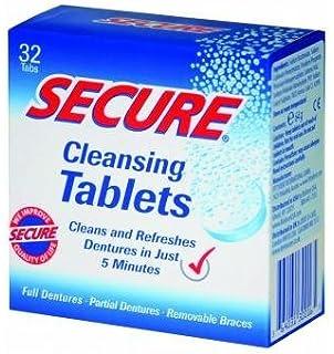 Secure - tabletas - 32 tabletas de limpieza de la dentadura