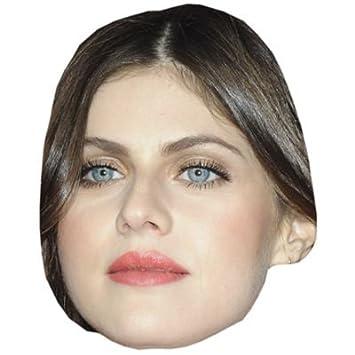 Alexandra Daddario Máscaras de personajes famosos, caras de carton