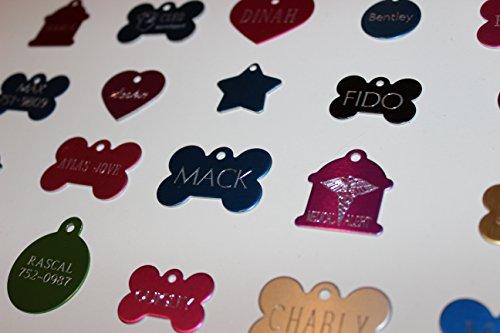 Pet Tags Custom Diamond Tip Engraved Double Sided Aluminum Pet Tags