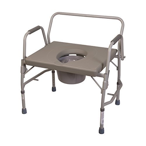 Duro-Med Portable Toilet, Commode Chair, Heavy-Duty Steel Commode ...