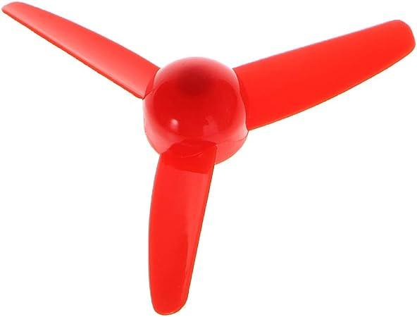 1PC /Énergie /Éolienne Trois H/élices en Plastique Accessoires H/élice Diam/ètre De larbre 2mm Rouge Junlinto