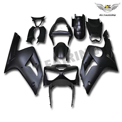New Matte Black Fairing Fit for Kawasaki Ninja 2003 2004 ZX6R 636 ZX-6R Injection Mold ABS Plastics Aftermarket Bodywork Bodyframe 03 04