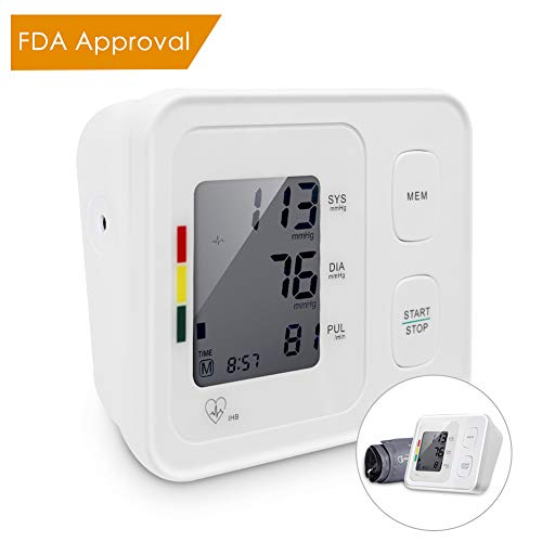 RegeMoudal Arm Blood Pressure Monitor Fully Auto Platinum Series High Accuracy Digital Electronic Portable Large LCD Display Home Use Elderly Irregular Heartbeat Indicator 22-32cm Cuff FDA Approval