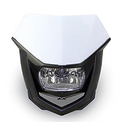 Moto Onfire DirtBike Headlight Visor Head Light Mask Protector Fit Kawasaki KX100 KX250f KX450f KX65 KLX110 KLX140 - White