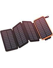 Hiluckey Solar Charger Portable Power Bank