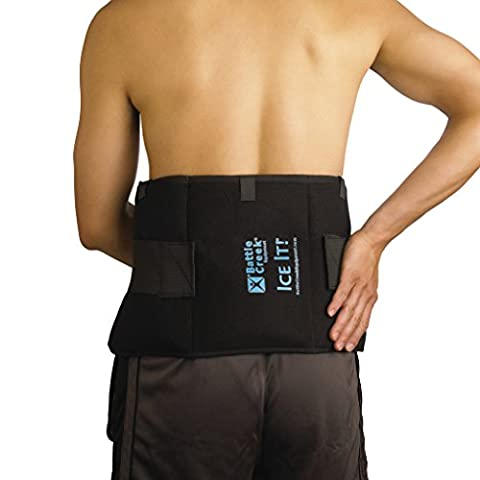 """Cold & Hot Therapy System Ice Pack Wrap for Shoulder, Hip, Back, and Abdomen - Ice It!® MaxCOMFORT™ (Extra-Large Design; 9"""" x 20"""") - - Earth Moon System"""