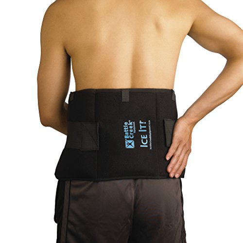 "Cold & Hot Therapy System Ice Pack Wrap for Shoulder, Hip, Back, and Abdomen - Ice It!® MaxCOMFORT™ (Extra-Large Design; 9"" x 20"") - F30550 Cold Back Wrap"