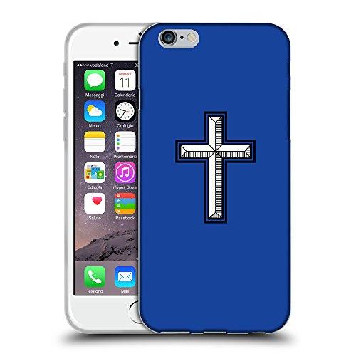 """GoGoMobile Coque de Protection TPU Silicone Case pour // Q08030613 Croix chrétienne 28 Bleu // Apple iPhone 6 PLUS 5.5"""""""